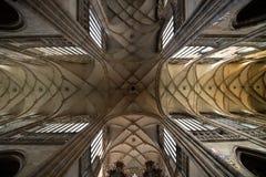 Интерьер собора Vitus величественный стоковая фотография rf