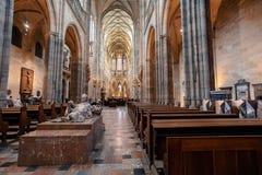 Интерьер собора Vitus, чехии стоковые фотографии rf