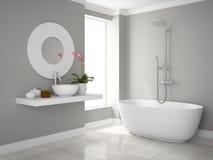 Интерьер современного перевода ванной комнаты 3D Стоковая Фотография