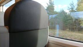 интерьер современного поезда скорости Стоковые Изображения
