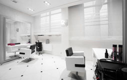 Интерьер современного салона красоты Стоковые Изображения RF