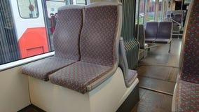 интерьер современного трамвая Стоковые Изображения RF
