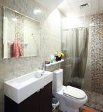 Интерьер современного туалета в европейском стиле Стоковое Изображение RF
