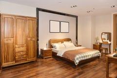 Интерьер спальни для современного дома Стоковые Изображения RF
