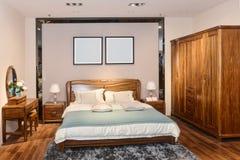 Интерьер спальни для современного дома Стоковые Фото