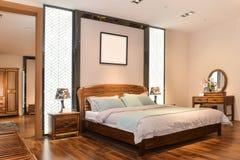 Интерьер спальни для современного дома Стоковая Фотография