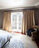 интерьер спальни домашний Стоковое фото RF