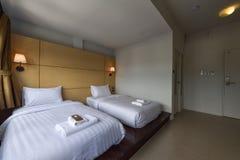 Интерьер спальни гостиницы Стоковая Фотография