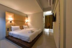 Интерьер спальни гостиницы Стоковая Фотография RF