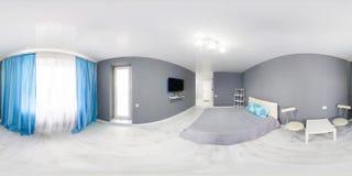 Интерьер спальни Современный интерьер спальни стиля минимализма в monochrome тонах Стоковая Фотография