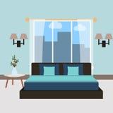 Интерьер спальни шарж также вектор иллюстрации притяжки corel Стоковая Фотография RF