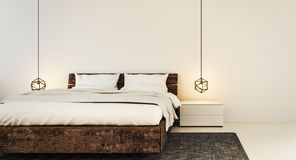 Интерьер спальни для современной спальни дома и гостиницы Стоковое Изображение