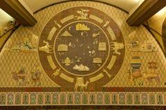 Интерьер станции метро Алма-Аты Стоковое Изображение RF