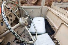 Интерьер старого военного транспортного средства Стоковое Изображение RF