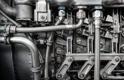 Интерьер старого конца-вверх реактивного двигателя стоковое изображение