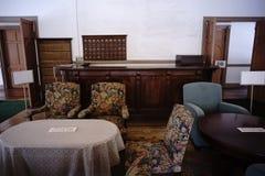 Интерьер старой гостиницы Mikasa стоковое изображение