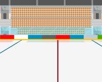 Интерьер стадиона иллюстрация вектора