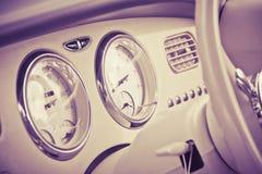 Интерьер стиля автомобиля ретро Стоковая Фотография RF