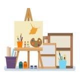 Интерьер студии искусства бесплатная иллюстрация