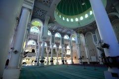 Интерьер султана Ahmad Shah 1 мечеть в Kuantan стоковое изображение