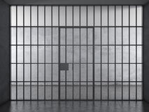 Интерьер тюрьмы с драматическим светом иллюстрация вектора