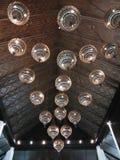 Интерьер украшения лампы потолочного освещения стоковое изображение