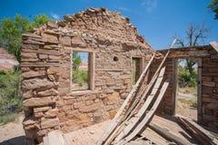 Интерьер усадьбы поселенца Стоковое Фото