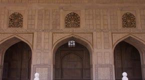 Интерьер форта в Агре, Индии стоковое изображение