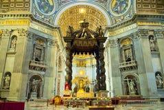 Интерьер христианской церков Стоковое Изображение