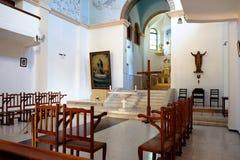 Интерьер церков в монастыре Dir Rafat или Регины p Стоковые Фотографии RF