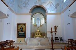 Интерьер церков в монастыре Dir Rafat Стоковая Фотография