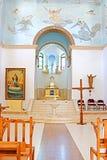 Интерьер церков в монастыре Dir Rafatt, также известном как святыня нашей дамы Ферзя Палестины Стоковые Фото