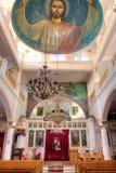 Интерьер церков в Esna, Египете Стоковая Фотография RF