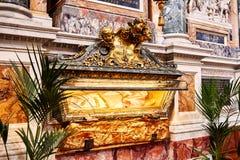 Интерьер церков майора St Mary, Santa Maria Maggiore полон произведений искусства Стоковое Изображение RF