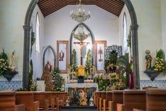 Интерьер церков на рождестве Стоковые Изображения