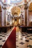 Интерьер церков паломничества девой марии Стоковая Фотография RF