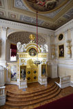 Интерьер церков Питера и Пола в Павловске, России стоковые изображения rf