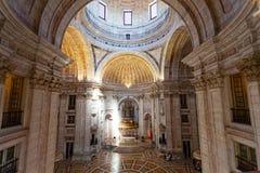 Интерьер церков Санты Engracia (пантеон) Стоковое Изображение