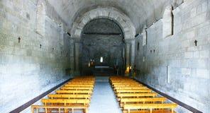 Интерьер церков Санты MarÃa de Porqueres Стоковая Фотография RF
