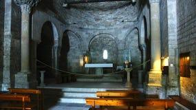 Интерьер церков Санты MarÃa de Porqueres Стоковое Фото