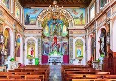 Интерьер церков Сан Мишель в деревне Savoca стоковое фото rf