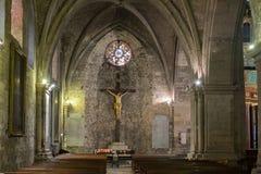Интерьер церков спасителя St Manosque, Провансаль, Франция стоковое фото