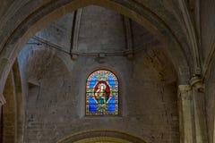 Интерьер церков спасителя St Manosque, Провансаль, Франция стоковые фото