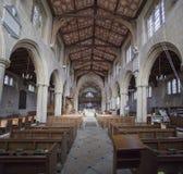 Интерьер церков Уилтшира монастыря Edington Стоковое Фото