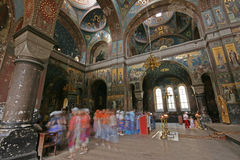 интерьер церков Стоковое Изображение