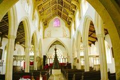 интерьер церков Стоковые Изображения