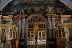 Интерьер церков церков Refectory St Sergius Стоковые Фото