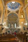 Интерьер церков San Sebastian в Манаус Стоковые Изображения RF