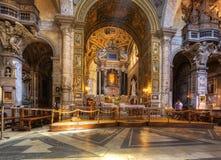 Интерьер церков Santa Maria del Popolo. Стоковая Фотография