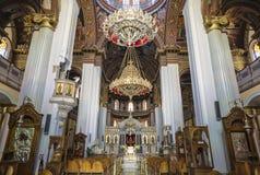 Интерьер церков St Катрина Синая - православной церков церков в ираклионе, Крите Стоковая Фотография RF